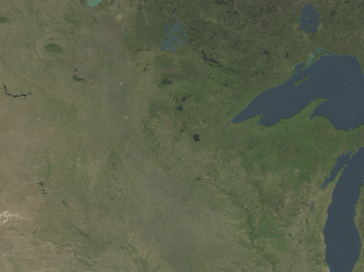 Satellite Map For United States