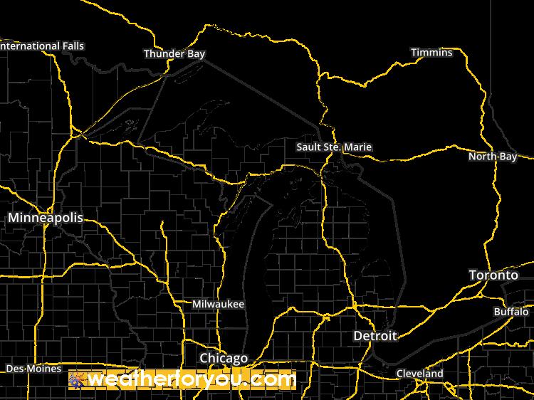 Satellite Map For Rochester Michigan 48306 Regional