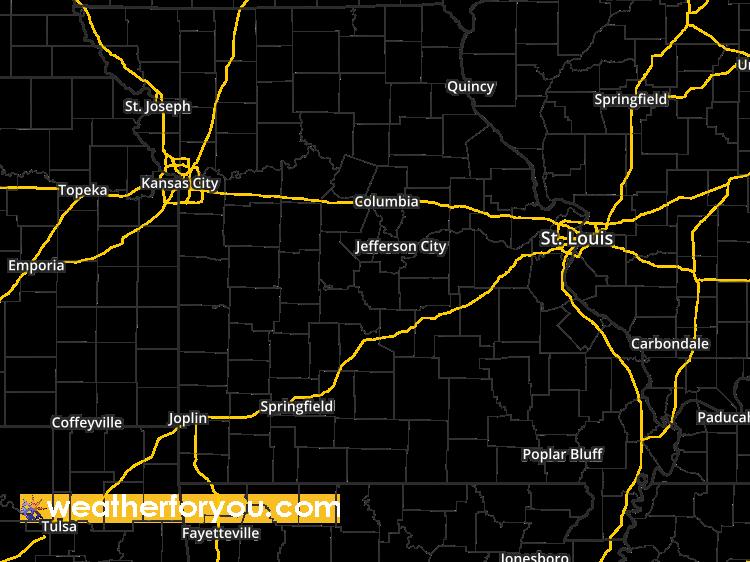 Doppler Weather Radar Map for Jefferson County, Missouri