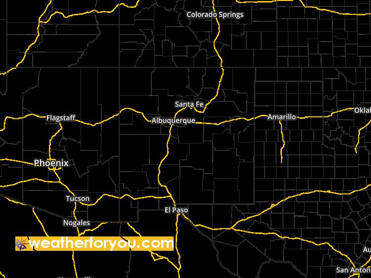 Doppler Weather Radar Map for Alamogordo New Mexico 88310 Regional