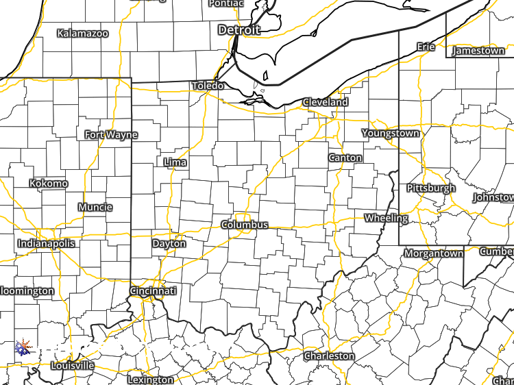 Doppler Weather Radar Map for Cleveland, Ohio (44101) Regional