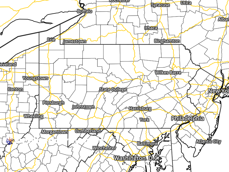 Doppler Weather Radar Map For Rockland Pennsylvania Regional