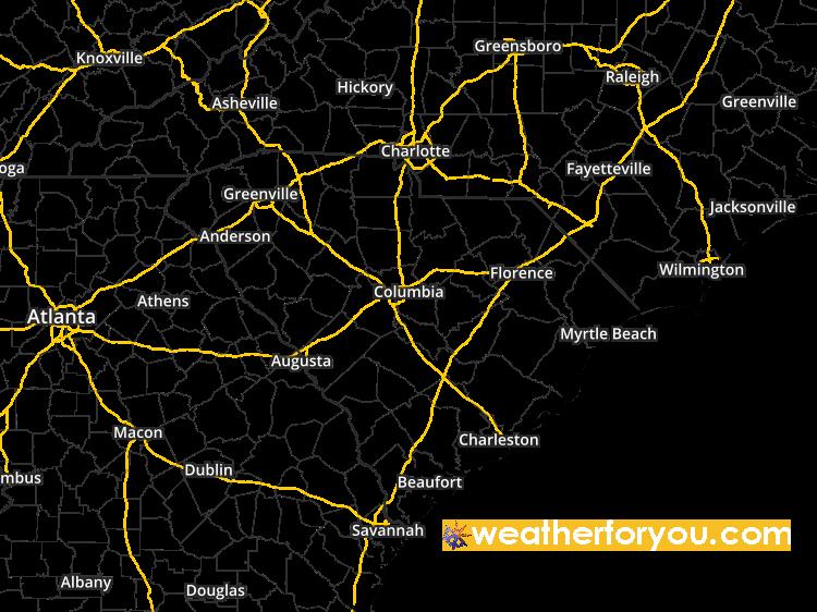 Doppler Weather Radar Map For Greer South Carolina 29650 Regional