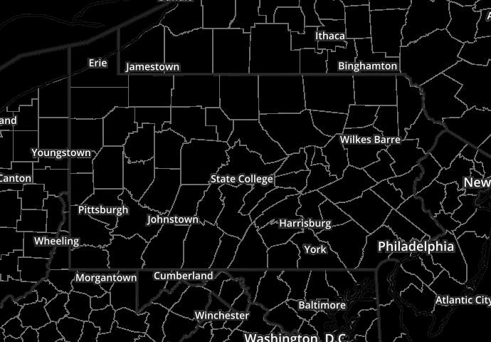 Lightning Strikes Map for United States